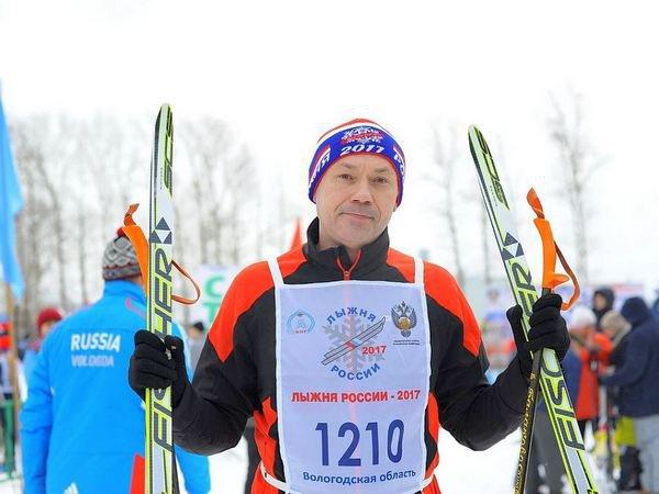 Андрей Травников на «Лыжне России - 2017»